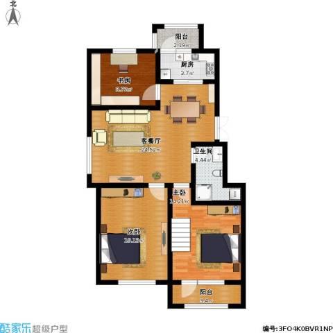 中天富城3室1厅1卫1厨112.00㎡户型图