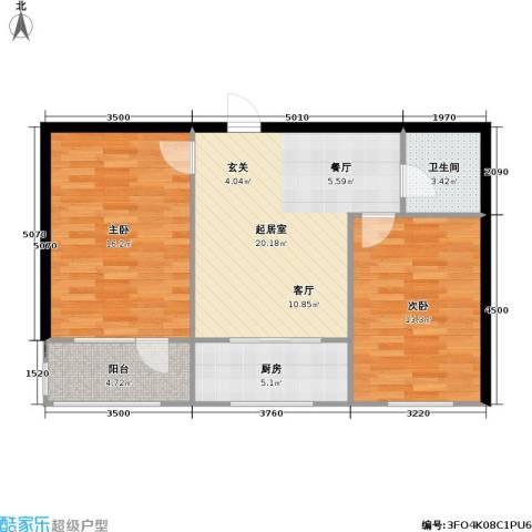 职高小区2室0厅1卫1厨69.00㎡户型图