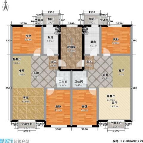 博雅馨园4室2厅2卫2厨201.00㎡户型图