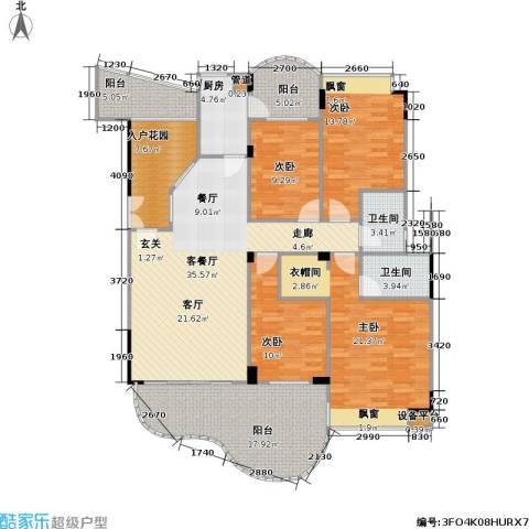 南海湖景湾4室1厅2卫1厨150.00㎡户型图