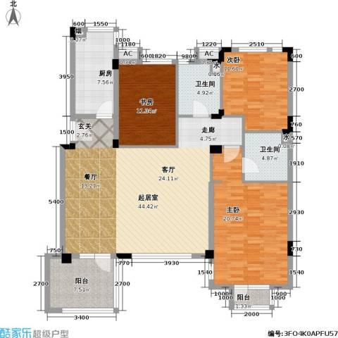 万科魅力之城3室0厅2卫1厨162.00㎡户型图