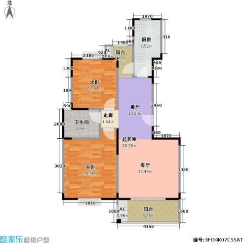 唯亭锦泽苑2室0厅1卫1厨86.00㎡户型图