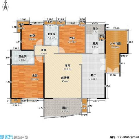 宏诚海岸花园3室0厅2卫1厨140.00㎡户型图