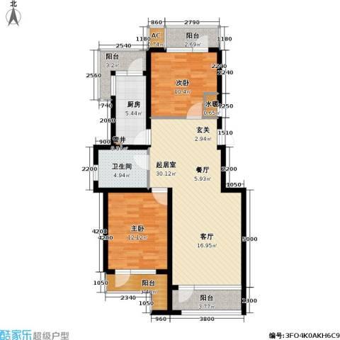 雷明雅阁2室0厅1卫1厨113.00㎡户型图