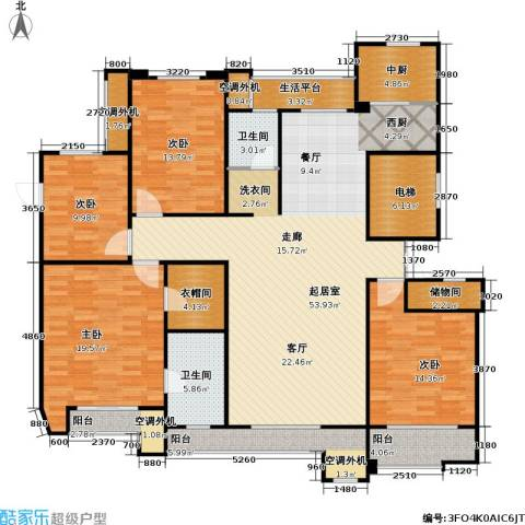 建业森林半岛4室0厅2卫0厨170.00㎡户型图