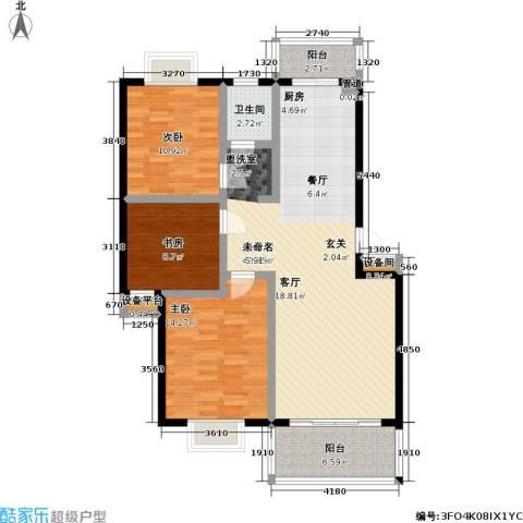 碧水云天3室1厅1卫0厨103.00㎡户型图
