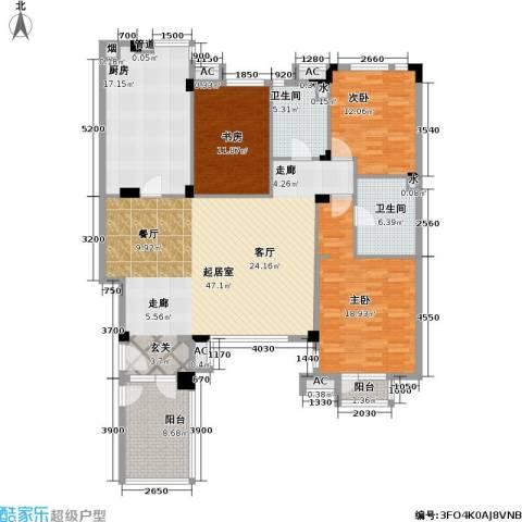 万科魅力之城3室0厅2卫1厨144.00㎡户型图