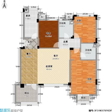 万科魅力之城3室0厅2卫1厨138.00㎡户型图