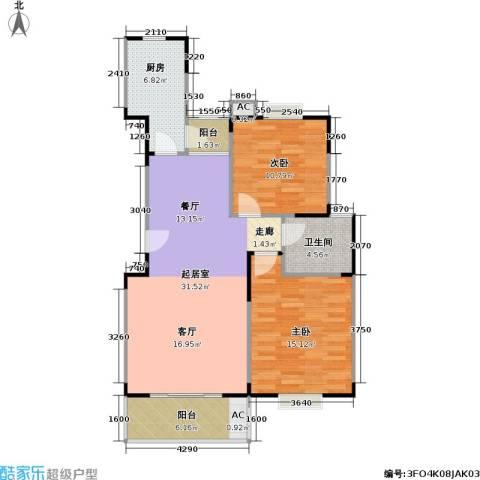 唯亭锦泽苑2室0厅1卫1厨80.00㎡户型图
