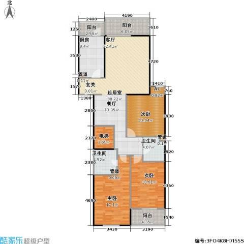 兴顺宝典3室0厅2卫1厨127.07㎡户型图