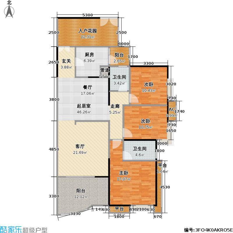 宏诚海岸花园117.30㎡宏峰轩4栋02单元户型
