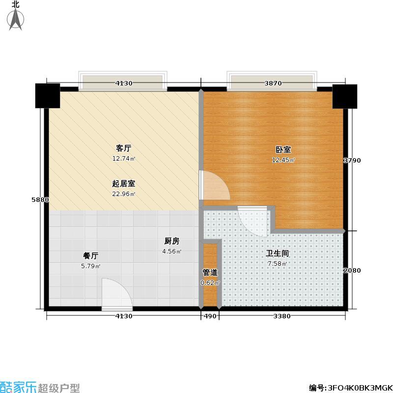 嘉尚青庭服务公寓户型1卫