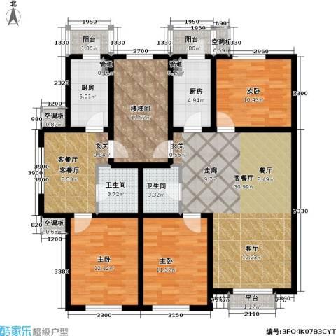 博雅馨园3室2厅2卫2厨161.00㎡户型图