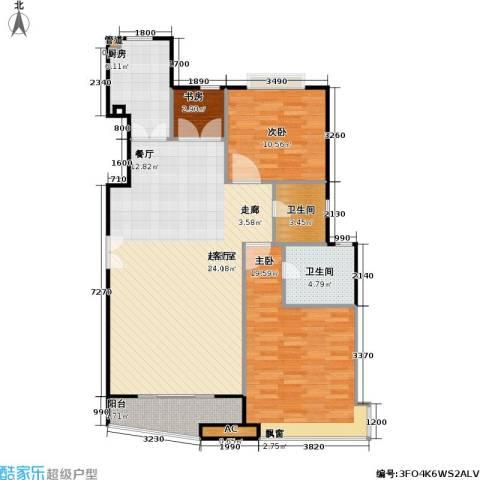 大上海国际花园二期3室0厅2卫1厨125.00㎡户型图