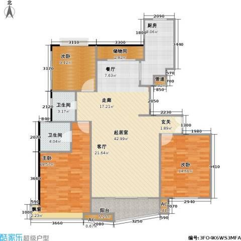 大上海国际花园二期3室0厅2卫1厨149.00㎡户型图