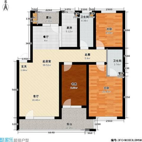 雷明雅阁3室0厅2卫1厨116.00㎡户型图