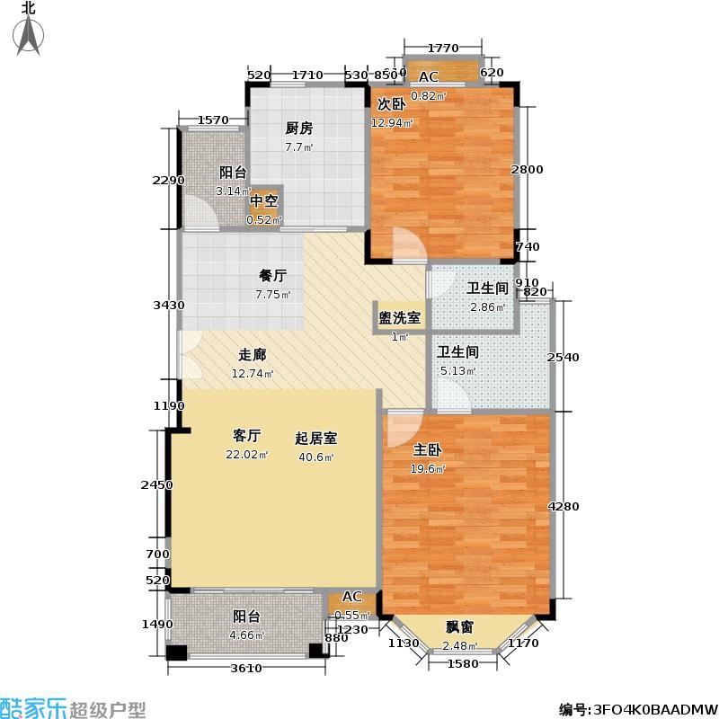 中旅蓝岸花园105.00㎡-户型