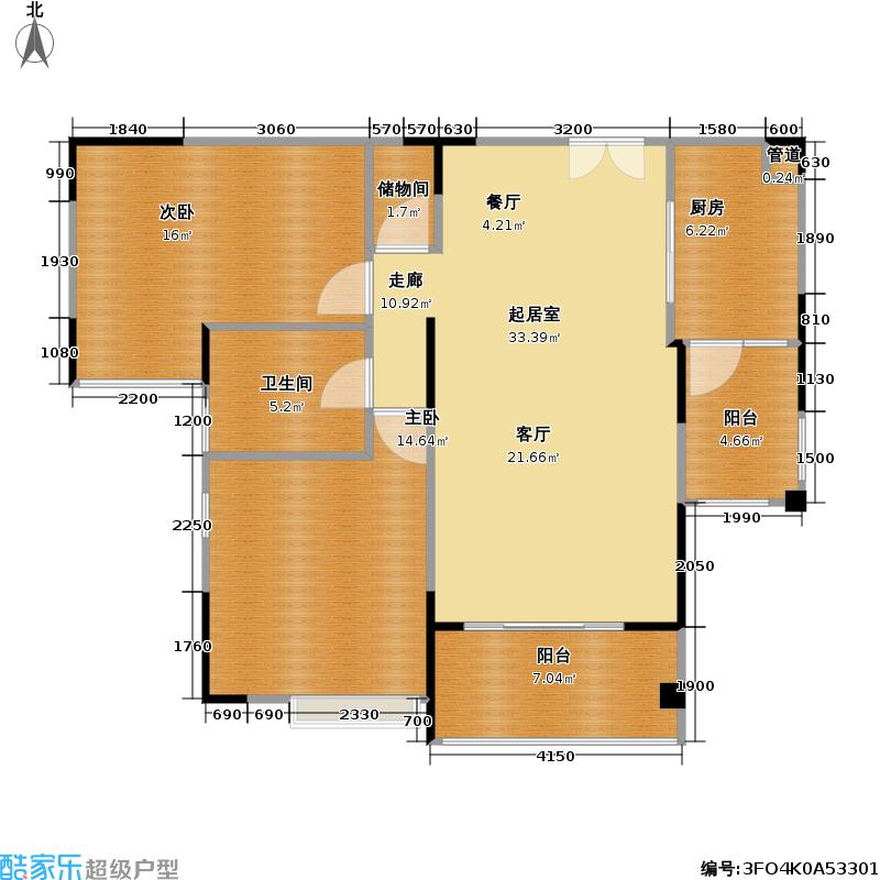 中旅蓝岸花园95.00㎡-户型