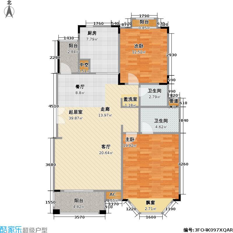 中旅蓝岸花园105.00㎡房型户型