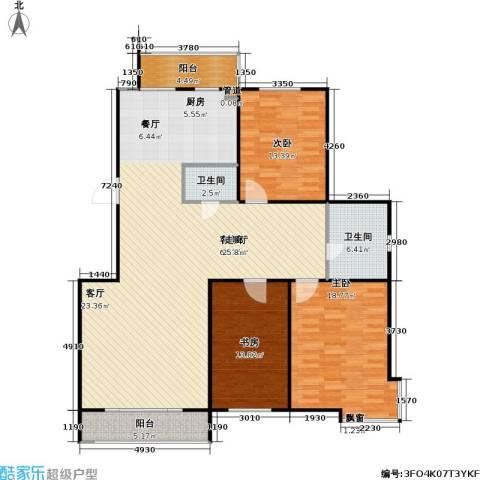 正大江南水乡一期3室1厅2卫0厨134.00㎡户型图