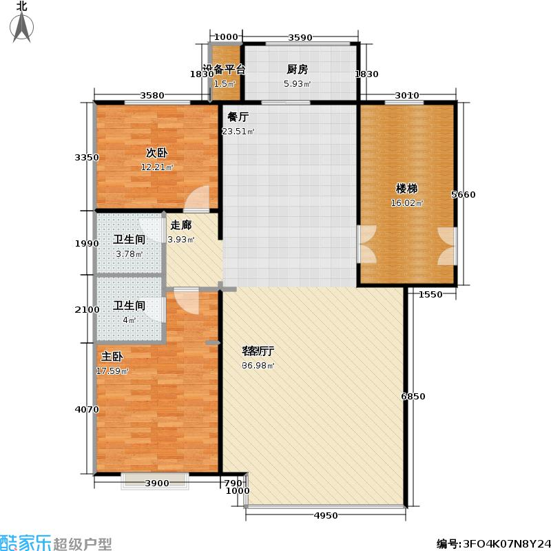 8栋洋房127.00㎡户型