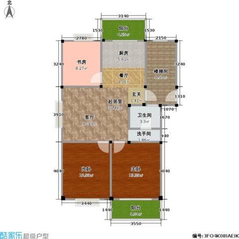 观滁新苑3室0厅1卫0厨93.00㎡户型图