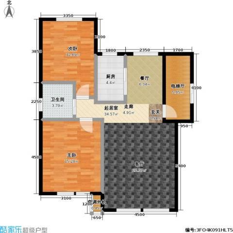 衡逸园2室0厅1卫1厨99.00㎡户型图
