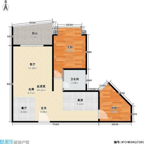 今日家园2室0厅1卫0厨62.00㎡户型图
