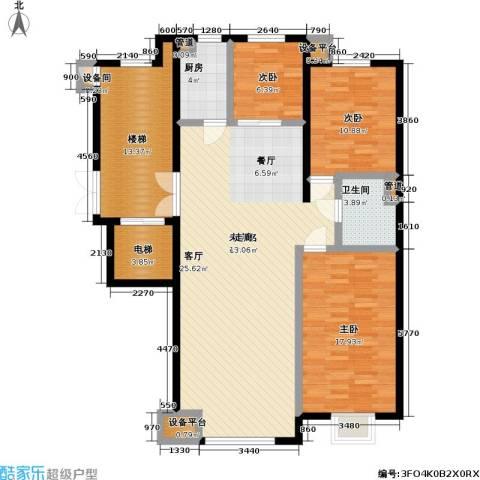 高校建赏欧洲3室0厅1卫1厨125.00㎡户型图