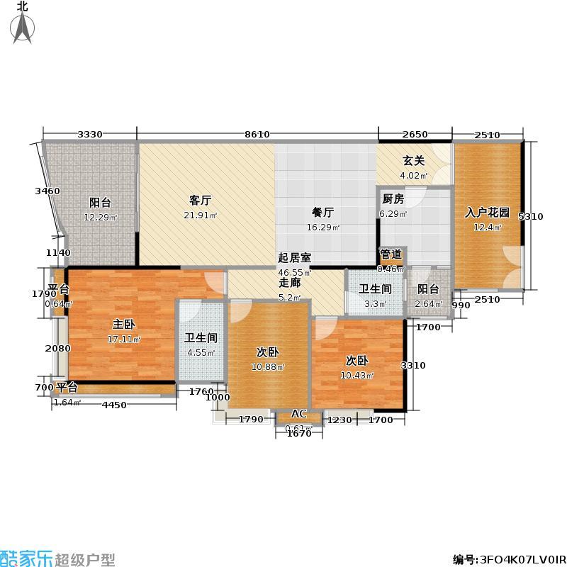 宏诚海岸花园143.23㎡宏耀轩1栋02单元户型
