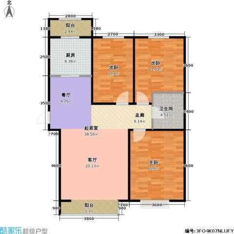 威克港湾3室0厅1卫1厨134.00㎡户型图