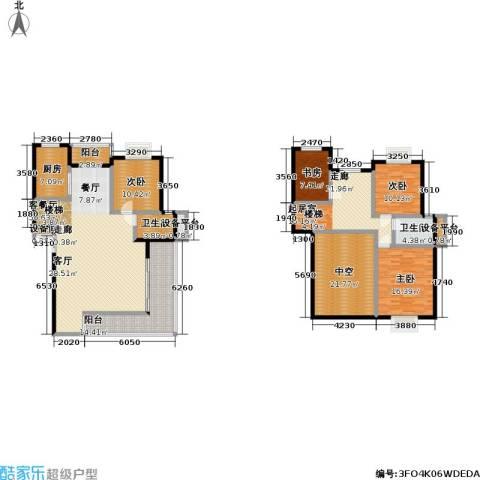 碧水云天4室1厅2卫1厨167.49㎡户型图