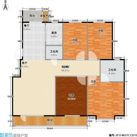 正大江南水乡一期4室1厅2卫1厨177.00㎡户型图
