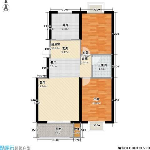 花溪里2室0厅1卫1厨94.00㎡户型图