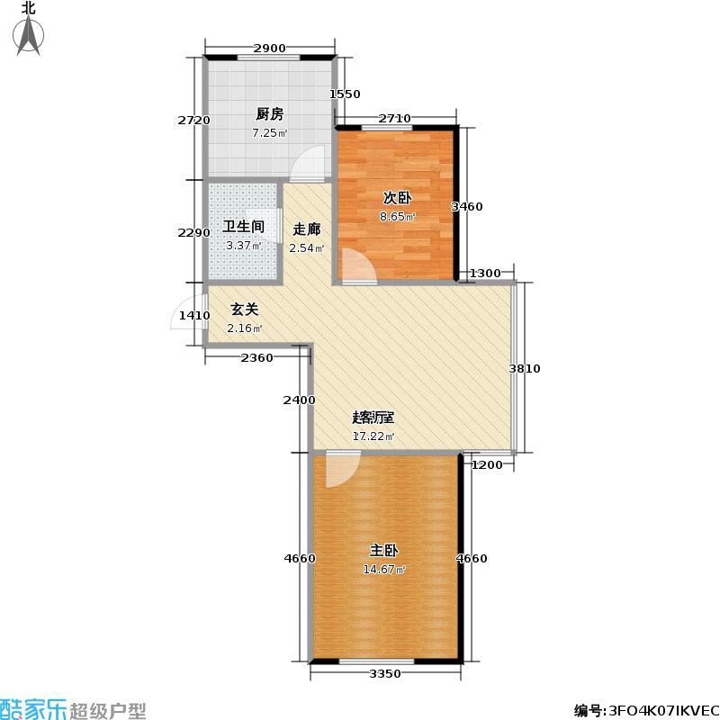大禹兰庭花园62.00㎡房型户型