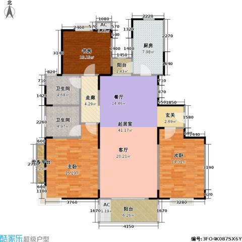 唯亭锦泽苑3室0厅2卫1厨147.00㎡户型图