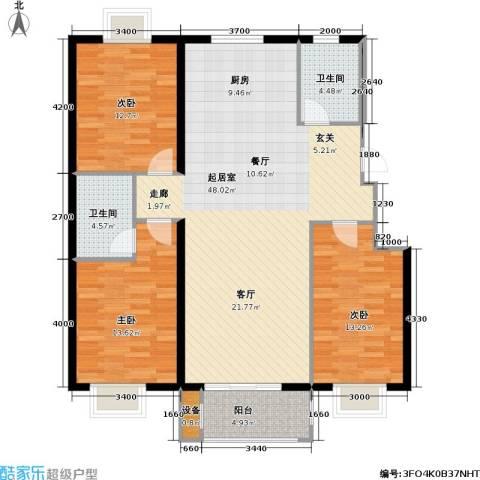 花溪里3室0厅2卫0厨132.00㎡户型图