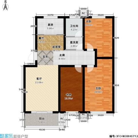 翡翠城3室0厅1卫1厨120.00㎡户型图