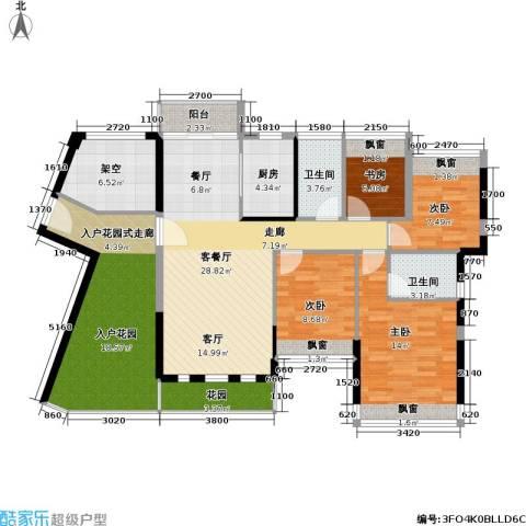 碧水龙庭4室1厅2卫1厨120.00㎡户型图