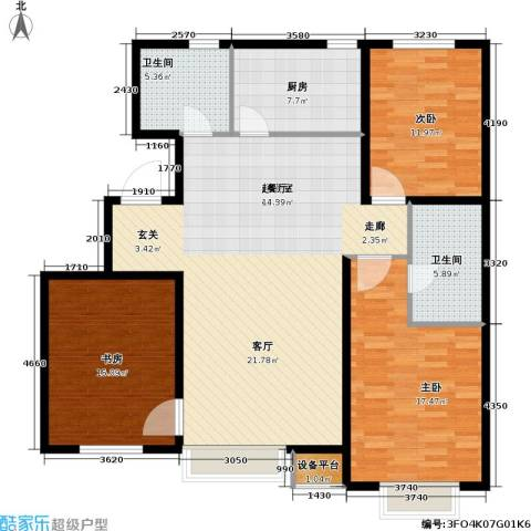第一城D组团3室0厅2卫1厨118.00㎡户型图