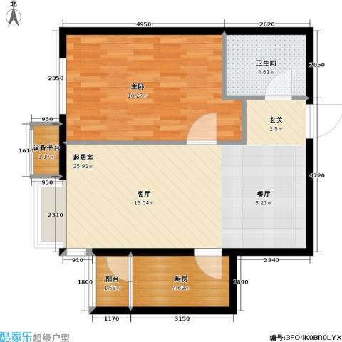 第一城D组团1室0厅1卫1厨59.00㎡户型图