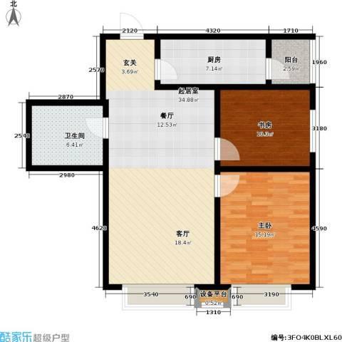 第一城D组团2室0厅1卫1厨87.00㎡户型图