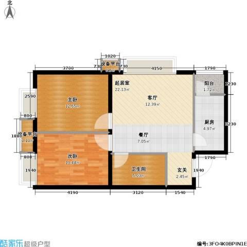 第一城D组团2室0厅1卫1厨67.00㎡户型图