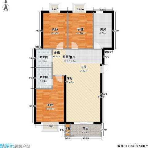 花溪里3室0厅2卫1厨124.00㎡户型图