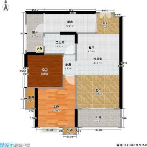 重庆天地雍江悦庭 重庆天地・雍江悦庭2室0厅1卫1厨69.80㎡户型图