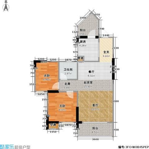 祥御・巴山二期 祥御巴山三期2室0厅1卫1厨57.00㎡户型图