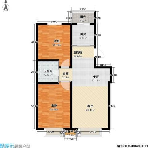 第一城D组团2室0厅1卫1厨99.00㎡户型图