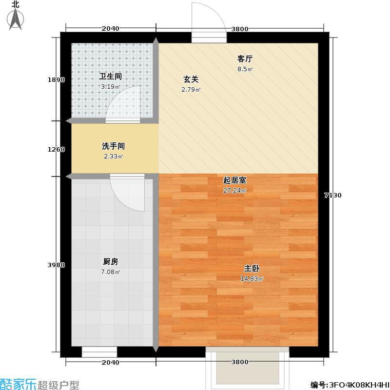 中城・蓝溪谷42.24㎡户型