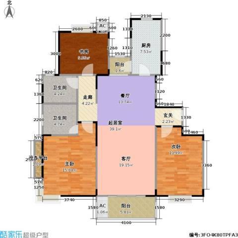 唯亭锦泽苑3室0厅2卫1厨120.00㎡户型图