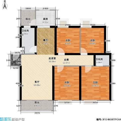 兴都花园4室0厅2卫1厨120.00㎡户型图